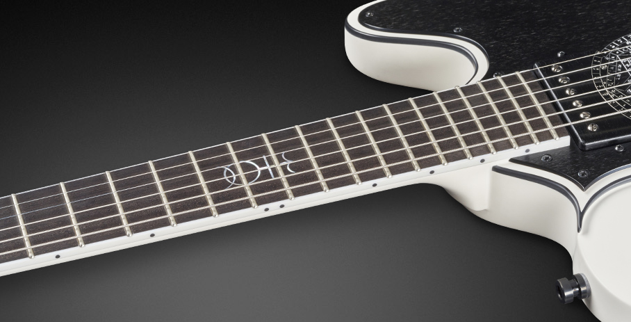 Idolmaker #17-3450 - Tigerstripe Ebony Fingerboard with White Neck Binding