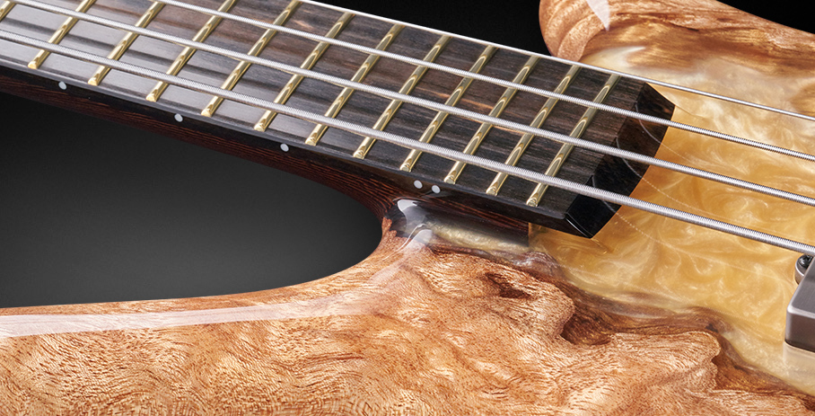 Thumb NT #19-4025 - Tiger Stripe Ebony Fingerboard