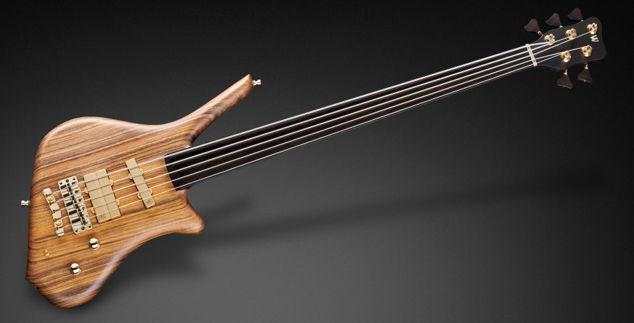 Dolphin Pro I 5  - Natural Oil Finish - Fretless version